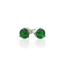 May birthstone sterling silver stud earrings