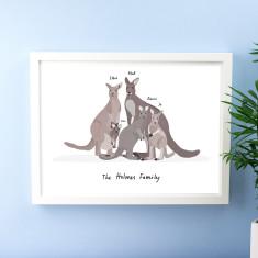 Personalised Kangaroo Family Portrait
