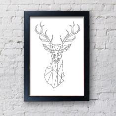 Scandi Geometric Reindeer Print