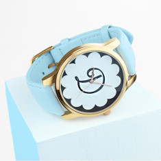 Monogram initial watch with scallop design