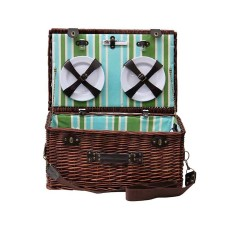 Sorrento Wicker picnic basket for 6