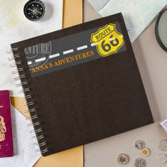 Personalised 'Adventures' Travel Keepsake Journal
