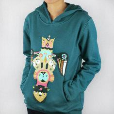 Totem print women's artist hoodie