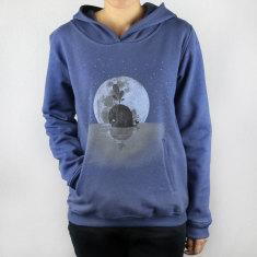 Whale & moon hoodie