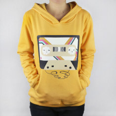 Smiley cassette women's hoodie