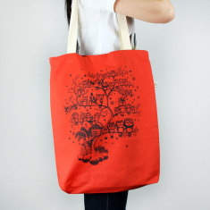 Owl tree tote bag