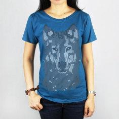Mosaic wolf women's tee