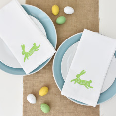 Easter Personalised Bunny Napkin