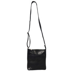 Cesar black leather satchel
