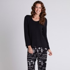 Mt Isa black jersey PJ set