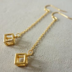 Long Cube Earrings
