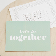 Let's get together invitation card