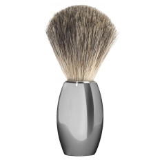 Nickel plated Muhle shaving brush M863