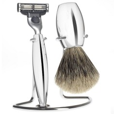 Chrome plated razor set M860 by Muhle-Shaving Germany