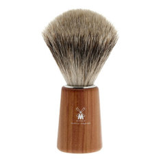 Plum wood shaving brush with best badger hair