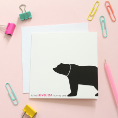 Loveliest mummy bear card