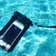 Waterproof case for phone and valuables (various colours)