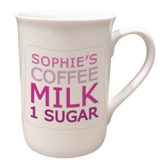 Personalised refreshment mug (pink or blue)