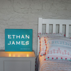 Alphabet multiple names illuminated canvas