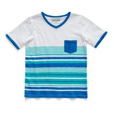 Boys' multi-striped t-shirt