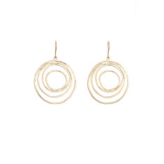 Multiple circle earrings in gold