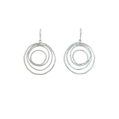 Multiple circle earrings in silver