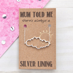 Mother's Day silver lining cloud bracelet