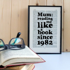 Mother's Day like a book personalised print