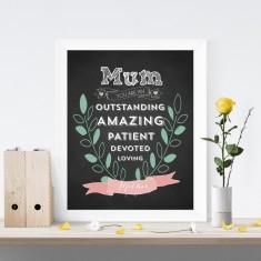 Mum you are amazing print
