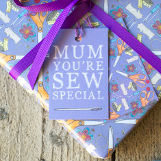 Mum you're sew special wrapping paper & tags set