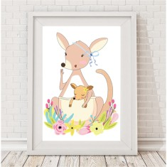 Mummy roo and joey print