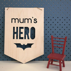 Mum's hero wooden wall plaque