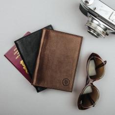 Prato italian leather passport cover