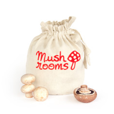 Mushrooms handmade eco storage bag