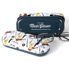 Music glasses case with personalised cloth