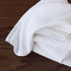 Organic muslin baby blanket