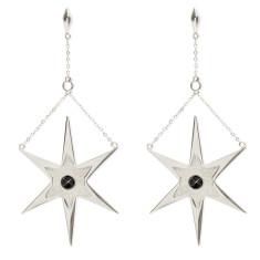 Orbiting Star Burst Drop Earrings