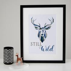 Still Wild Stag Print