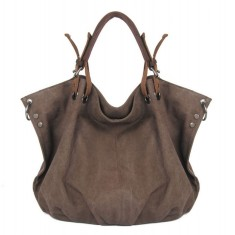 Canvas tote bag with detachable shoulder strap