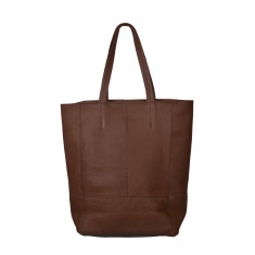 Cinzia brown leather shopper