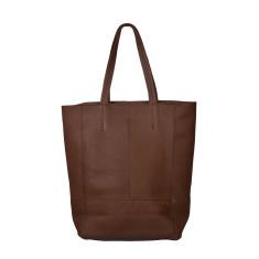 Cinzia brown leather shopper