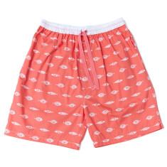 Gone fishing red men's sleep shorts