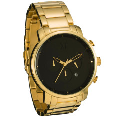 MVMT chrono watch in gold & black with gold steel band