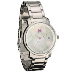 MVMT women's watch in silver with pearl face