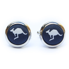 Roo Cufflinks in navy