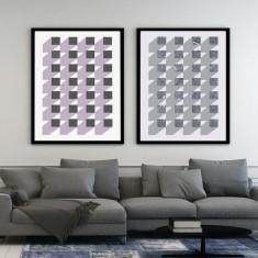 Geometric Art Print (Two Colours)