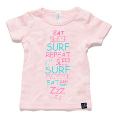 Eat sleep surf repeat baby tee