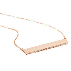 Crystal necklace in 18K rose gold vermeil