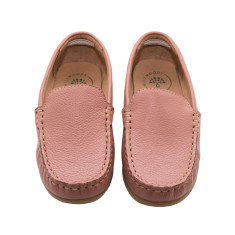 Dusty Pink Leather Loafers