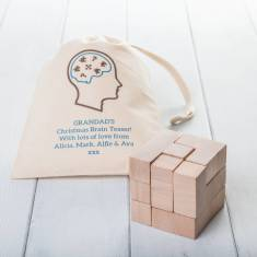 Wooden Puzzle With Personalised Gift Bag